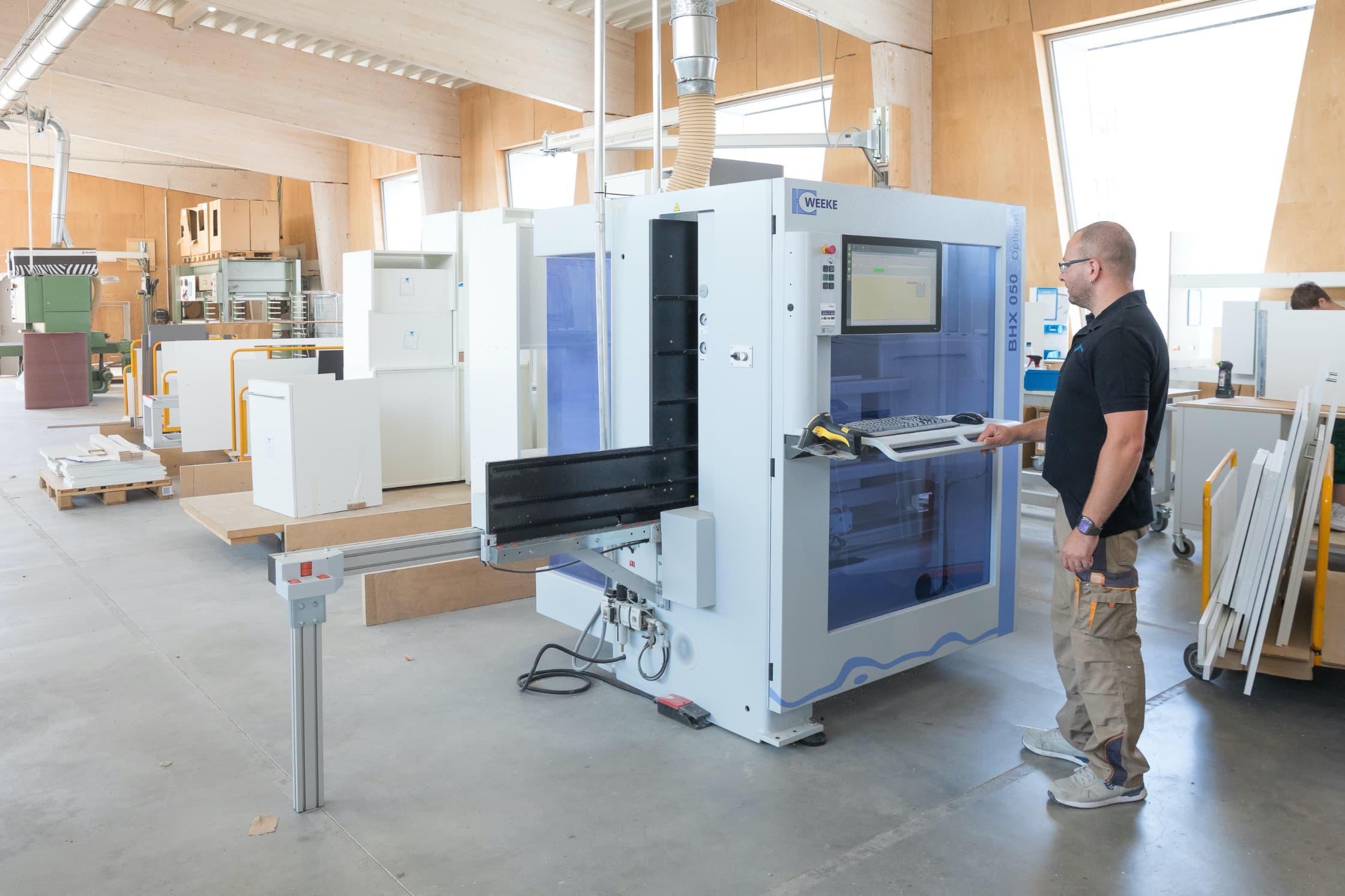 Hier in unserer Produktion in Schwäbisch Hall werden unsere NR Küchen hergestellt