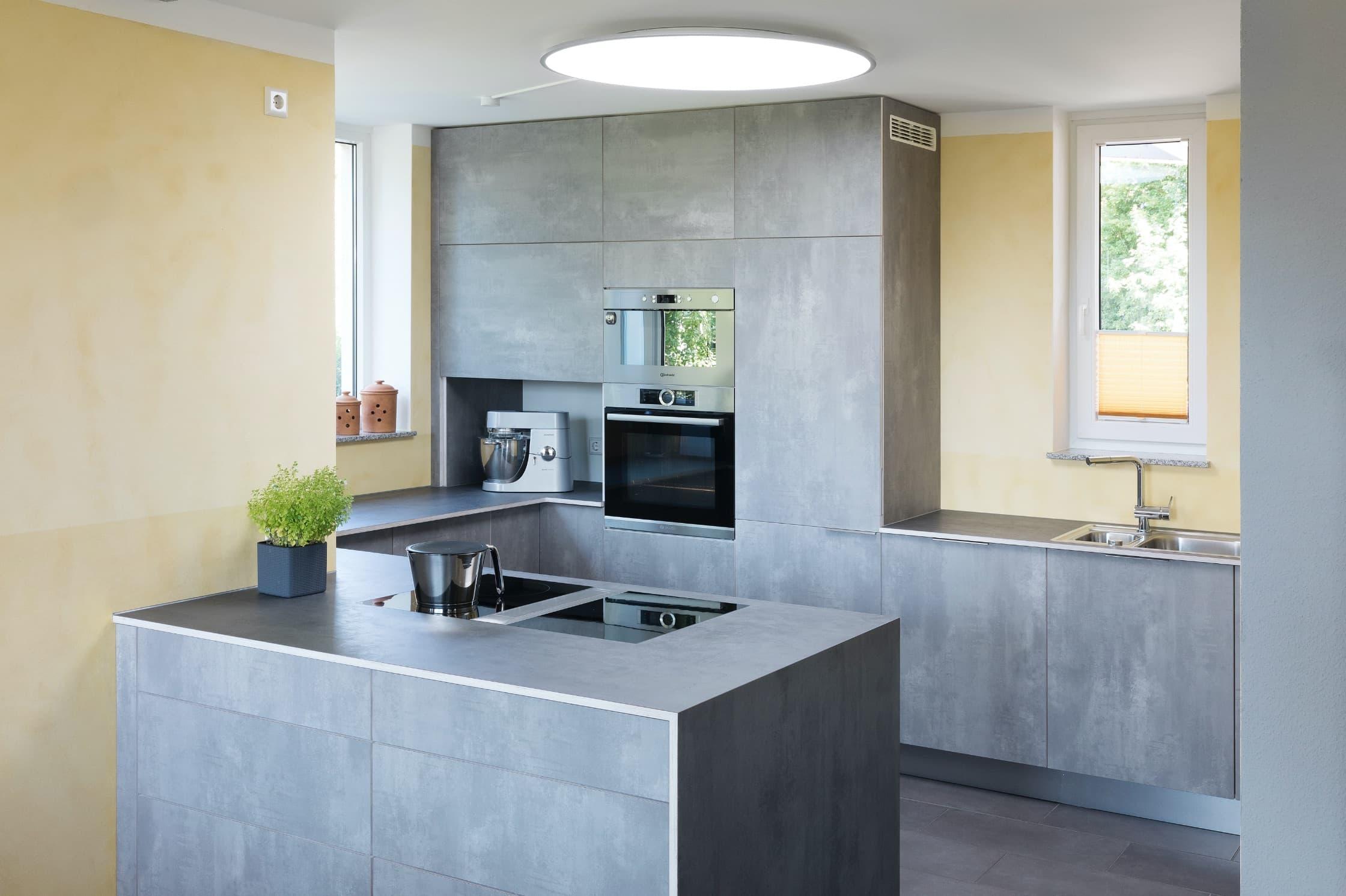 Eine Küche aus Beton