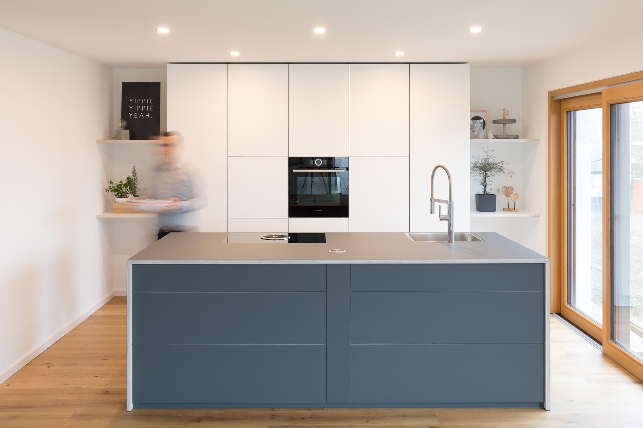 Eine moderne Küche